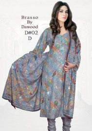 Dawood Textiles Winter Dresses 2013 For Women 010
