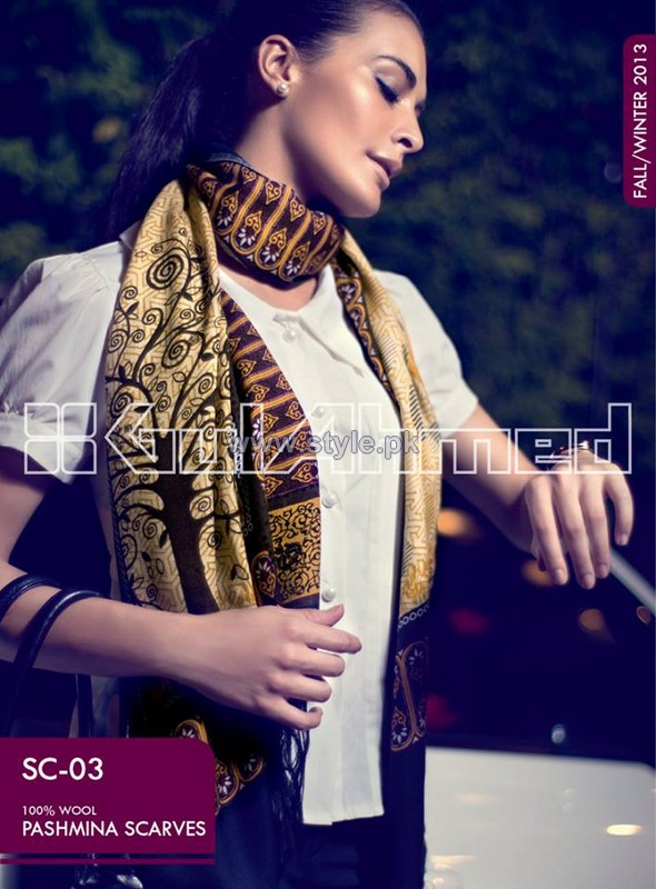 Gul Ahmed Latest Pashmina Scarves Collection 2013 For Women9