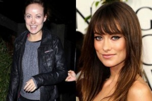 Olivia Wilde With&without makeup