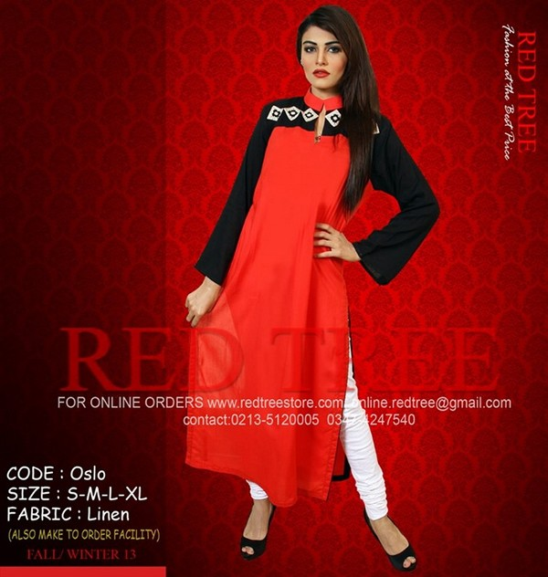 Red Tree Winter Dresses 2013 for Women and Girls