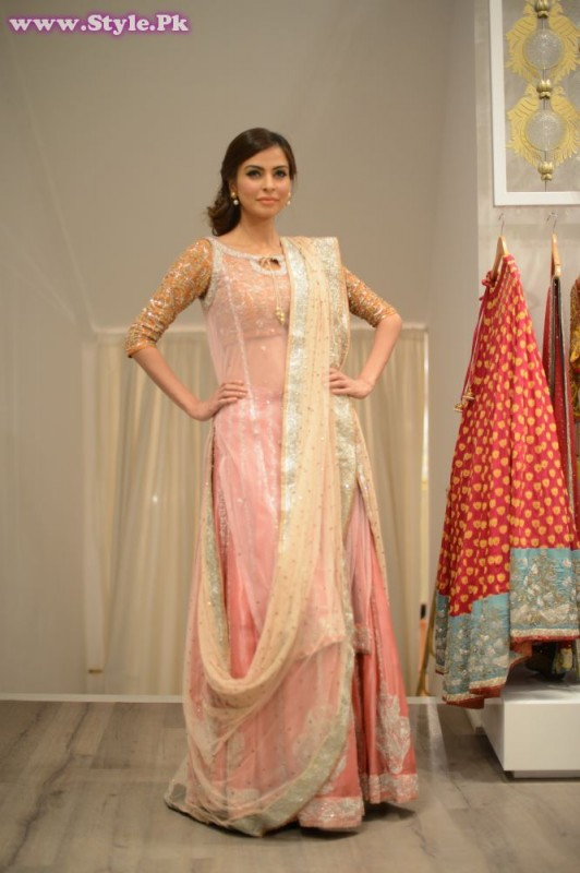 Fauzia Aman wearing a Nida Azwer Ensemble