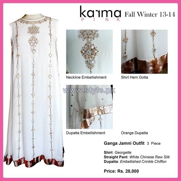 Karma Pink Fall Winter Dresses 2014 For Women 8
