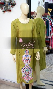 Nadia's Collection Winter Dresses 2014 For Women 0010