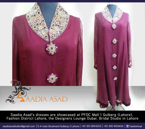 Saadia Asad Winter Dresses 2014 For Women 003