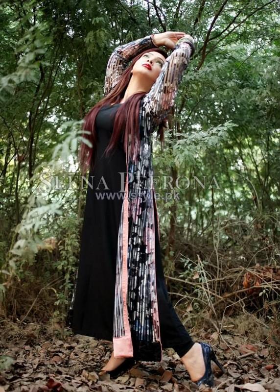 Seena Peerona Winter Dresses 2013-2014 For Girls 3