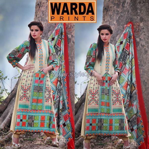 Warda Designer Silk Kurrandy Dresses 2014 For Winter 1