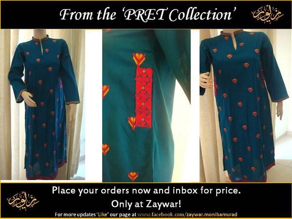 Zaywar Winter Dresses 2013-2014 For Women 002
