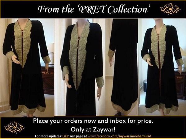 Zaywar Winter Dresses 2013-2014 For Women 007