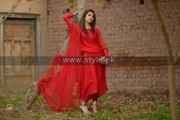 Cazibe Pret Winter Dresses 2014 For Girls 4