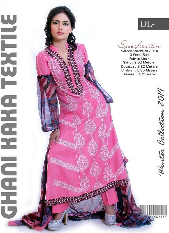 Ghani Textile Casual Dresses 2014 For Women 0013