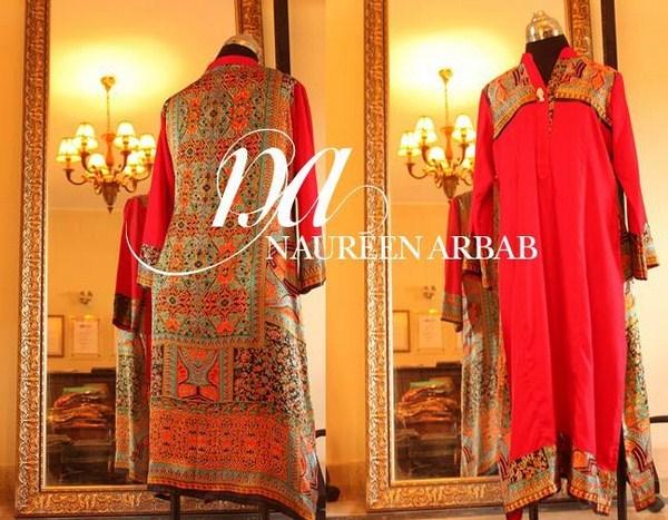 Naureen Arbab Winter Dresses 2014 For Girls 004