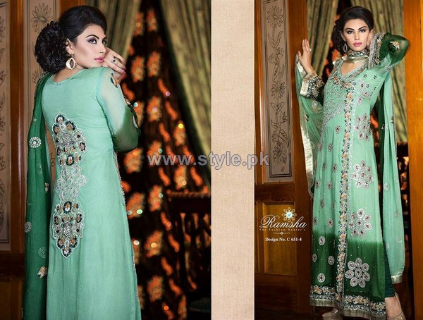 Ramsha Fashion Embroidered Dresses 2014 For Winter 9
