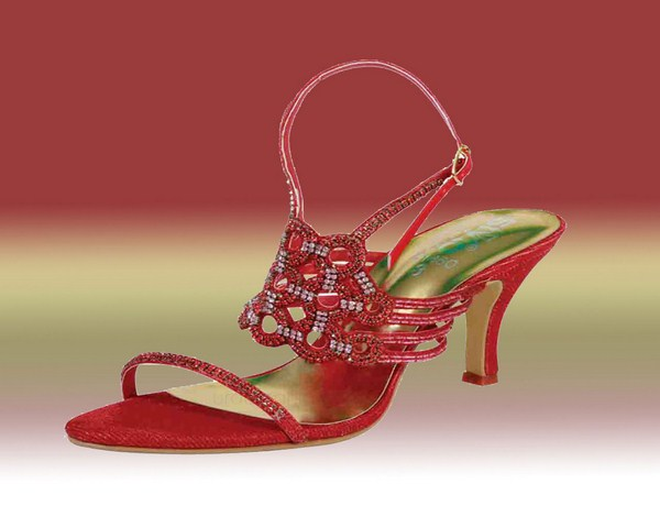 Red Bridal High Heel Shoes For Wedding 004