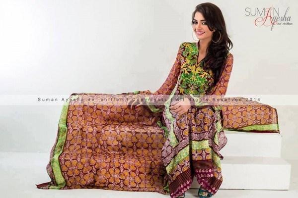 Suman Ayesha Winter Dresses 2014 For Women 002
