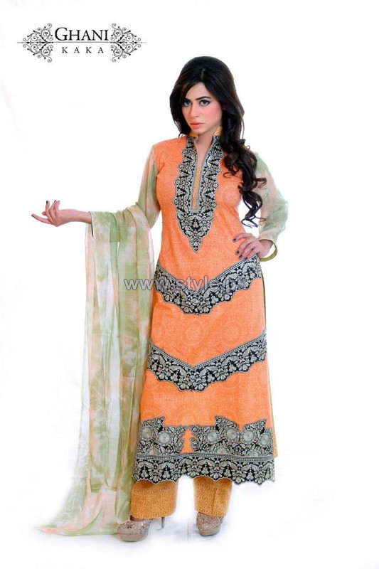Ghani Textile Cambric Dresses 2014 For Spring 5
