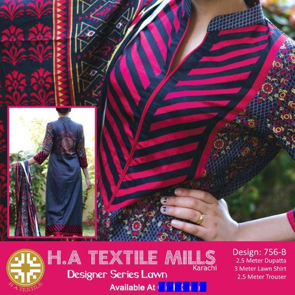 H.A Textile Lawn Dresses 2014 For Women 003
