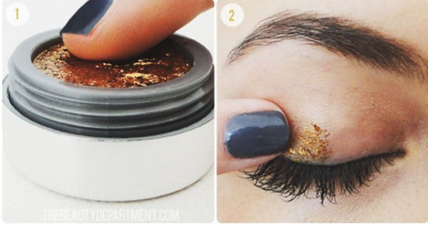 How To Get Gold Sparkle Eyeshadow 1