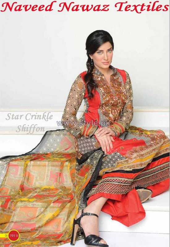 Naveed Nawaz Textiles Summer Dresses 2014 For Women 2