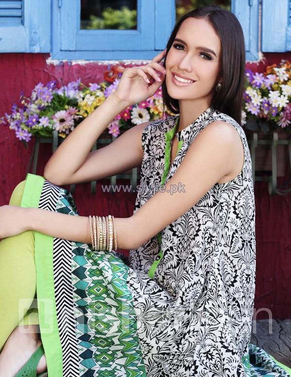 Nishat Linen Pret Wear Dresses 2014 Volume 1 8