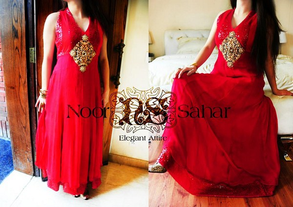 Noor Sahar Party Dresses 2014 For Women
