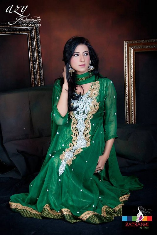 Satrangi By Saqib Formal Dresses 2014 For Women 001