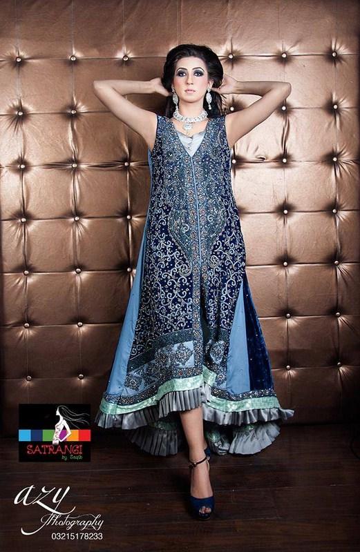 Satrangi by Saqib Party Dresses 2014 For Women 004