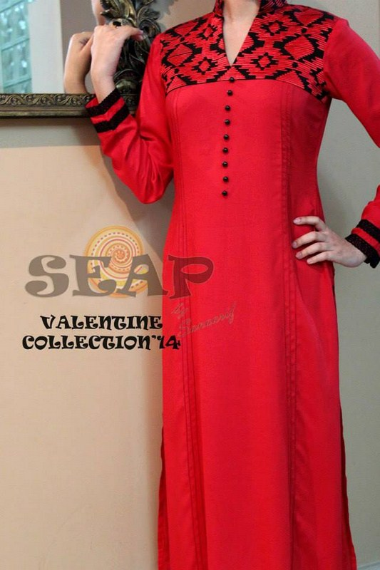 Seap By Sanaa Arif Valentine's Day Dresses 2014 For Women 005