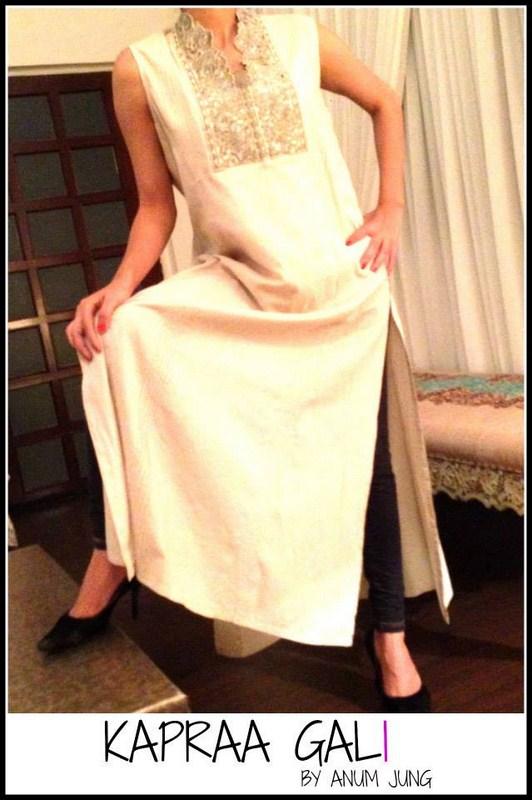 Kapraa Gali By Anum Jung Spring Dresses 2014 For Women 003