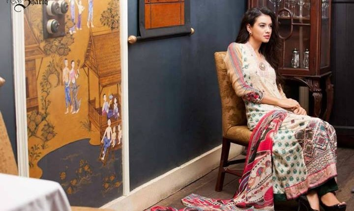Shariq Textiles Libas Embroidered Lawn 2014 for Women