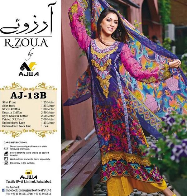 Ajwa Textile Arzo Lawn Dresses Volume 1 For Women 003