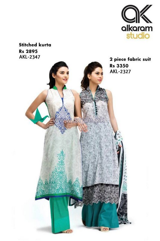 Al-Karam Textiles New Prints 2014 For Women 10