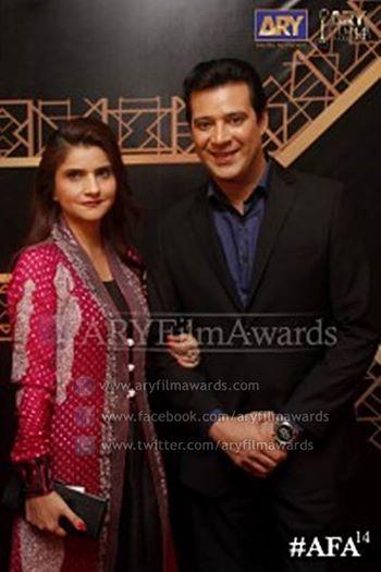 Mr. & Mrs. Moammar Rana at the red carpet of #AFA14