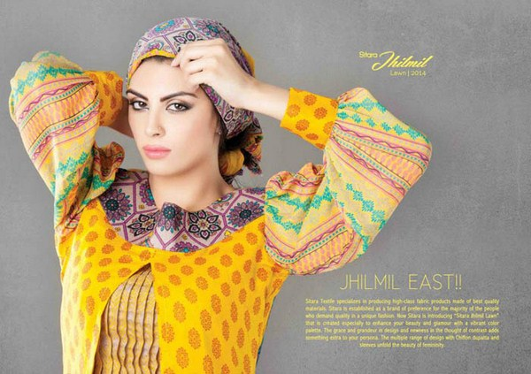 Sitara Textiles Jhilmil Lawn Dresses 2014 For Women 004