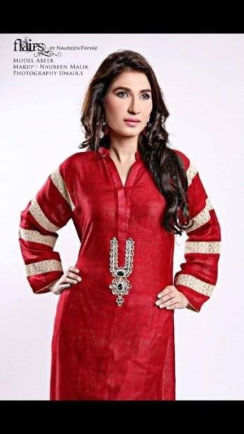Flairs by Naureen Fayyaz Summer Dresses 2014 for Women012