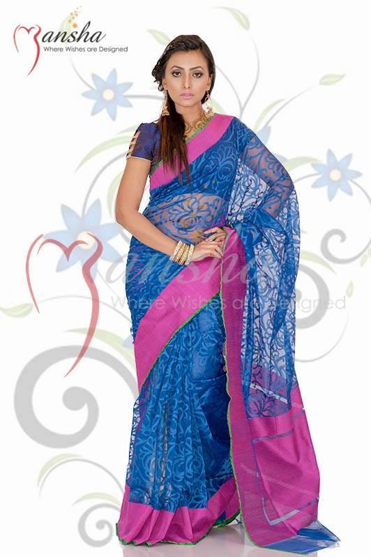 Mansha Sarees Collection 2014 For Women 009
