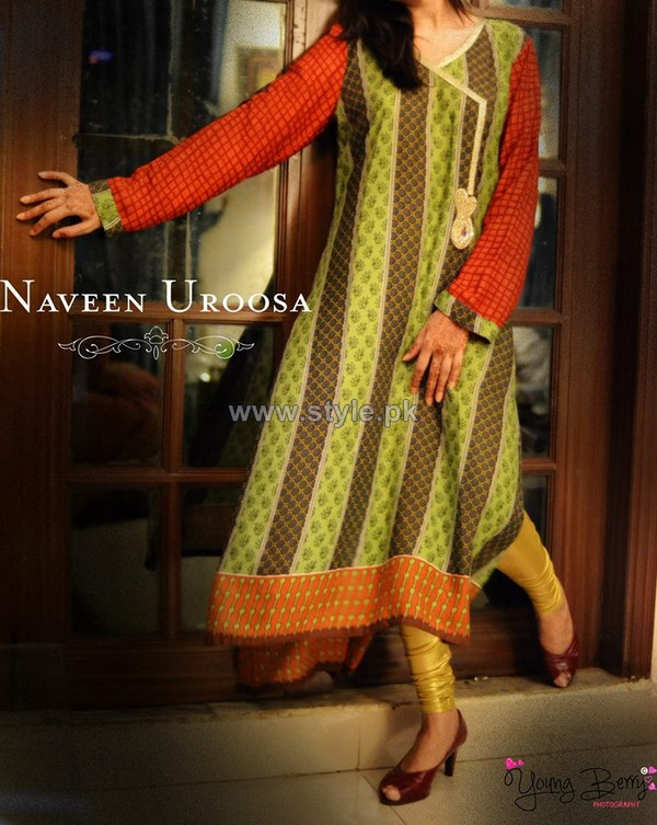 Naveen Uroosa Lawn Dresses 2014 For Summer 1