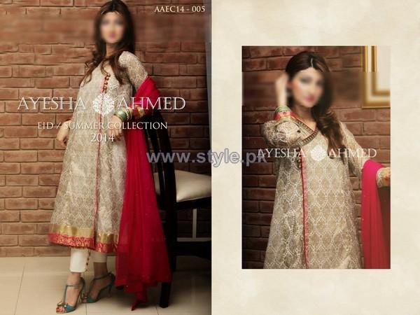 Ayesha Ahmed Eid Summer Dresses 2014 For Girls 1