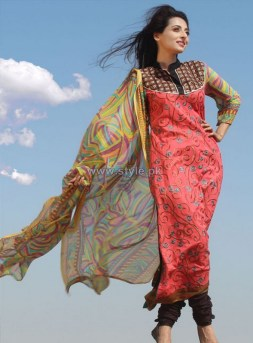 Dicha Embroidered Lawn Dresses 2014 For Eid 6