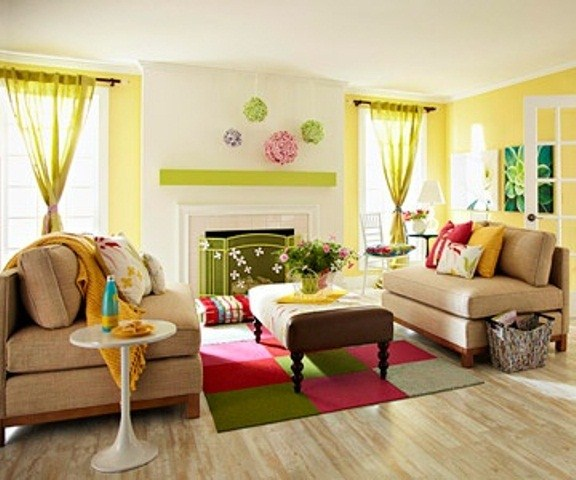 Ideas To Decorate Living Room In Summer Season 001