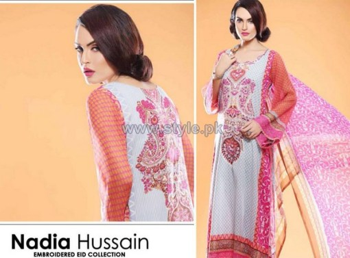 Nadia Hussain Embroidered Eid Dresses 2014 For Women 8