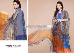 Nadia Hussain Embroidered Eid Dresses 2014 by Shariq Textiles 1