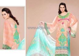 Nadia Hussain Embroidered Eid Dresses 2014 by Shariq Textiles 3