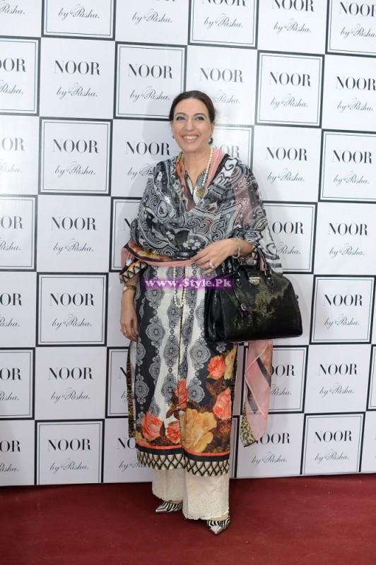 Nilofer Shahid at Pasha Fabrics launch
