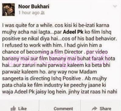 Noor Bukhari Vs Adeel PK pic 01