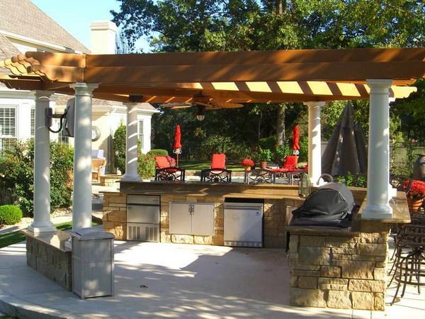 Outdoor Kitchen Decoration Ideas In Summer Season 009