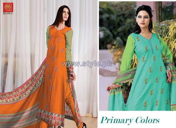 Al-Hamra Textile Mid Summer Dresses 2014 For Girls 6