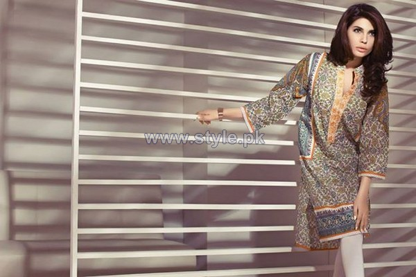Ethnic by Outfitters Mid Summer Dresses 2014 For Girls 5