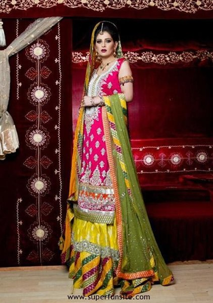 Multi Color Pakistani Bridal Dresses 2014 For Women 0010