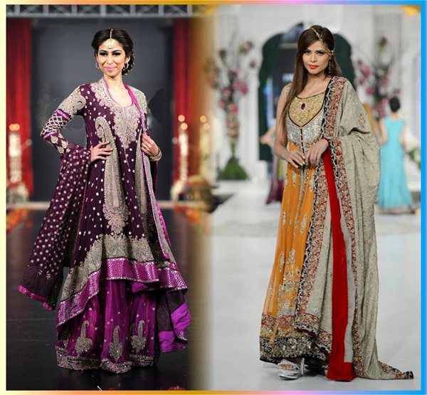 Multi Color Pakistani Bridal Dresses 2014 For Women 007