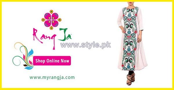 Rang Ja Mid Summer Dresses 2014 For Girls 2